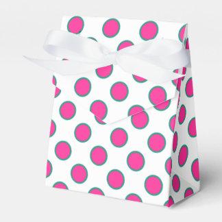 Los lunares de la aguamarina, rosados y blancos cajas para regalos