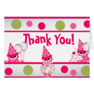 Los lunares rosados le agradecen CARDAR Tarjeta Pequeña