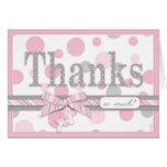 Los lunares rosados y grises le agradecen fiesta d felicitacion