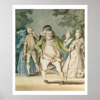 Los macarrones, 1774 (w/c en el papel) impresiones