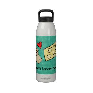 Los macarrones aman el queso botella de agua lind