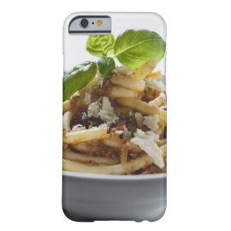 Los macarrones con pican la salsa y el queso funda para iPhone 6 barely there