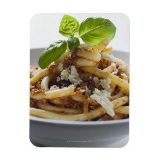 Los macarrones con pican la salsa y el queso rectangle magnet