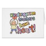 Los maestros de jardín de infancia tienen corazón tarjetas