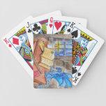 Los magos guardan baraja cartas de poker