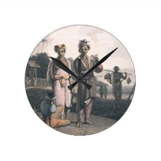Los Malays de Java, grabados por los artistas, pub Reloj
