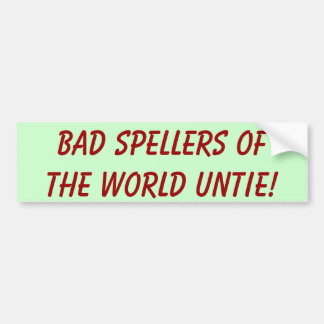 ¡Los malos abecedarios del mundo desatan! Pegatina Para Auto