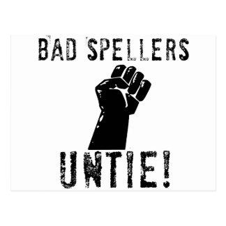 ¡Los malos abecedarios DESATAN!! Postal