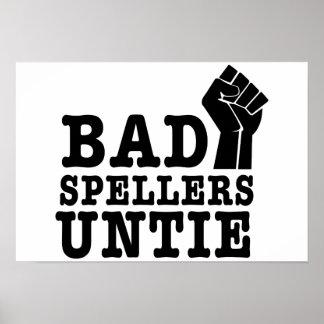 Los malos abecedarios desatan póster