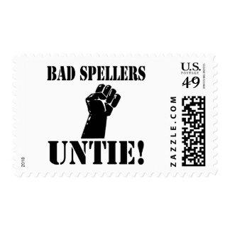 ¡Los malos abecedarios DESATAN!! Sello Postal