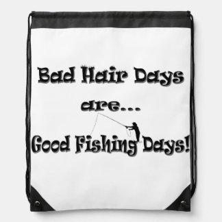 ¡Los malos días del pelo son buenos días de pesca! Mochilas