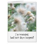 """Los """"malos días del pelo suceden"""" (divertido, el tarjetas"""
