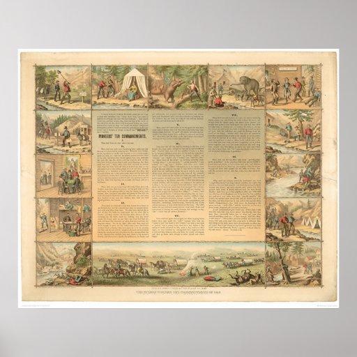 Los mandamientos del minero diez (1081A) Poster