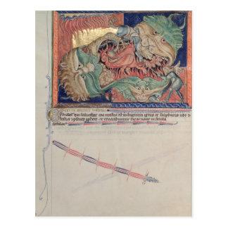 Los mandíbulas del infierno que tragan el dragón tarjetas postales