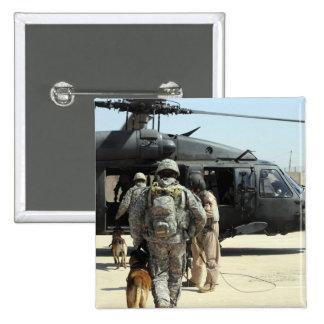 Los manipuladores de perro de trabajo militares chapa cuadrada 5 cm
