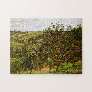 Los manzanos Acercan a la bella arte de Vetheuil Rompecabezas Con Fotos