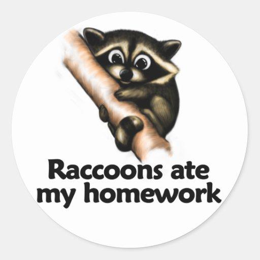 Los mapaches comieron mi preparación pegatinas redondas