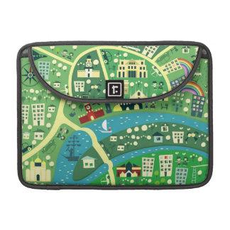 los mapas de los capitales del carrito de MacBook Fundas Macbook Pro