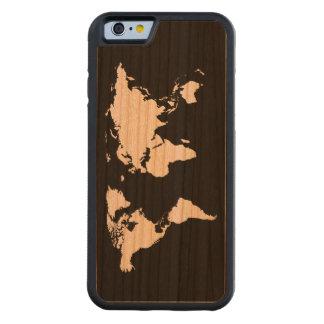 los mapas del mundo funda de iPhone 6 bumper cerezo