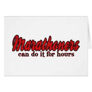 Los Marathoners pueden hacerlo por horas Tarjeta De Felicitación