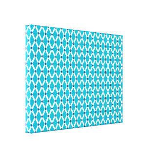 Los marcos Diamante-Blancos azules del equipo de Impresiones En Lienzo Estiradas