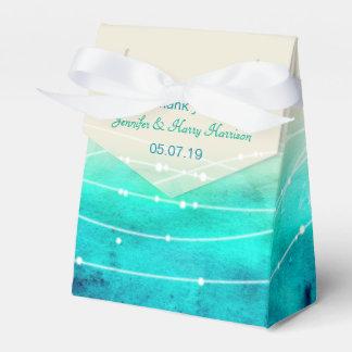 Los mares chispeantes de la acuarela le agradecen cajas para regalos de fiestas