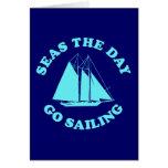 Los mares el día van a navegar felicitacion