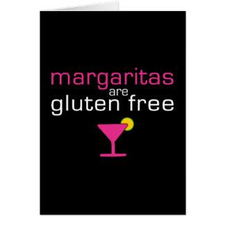 Los Margaritas son gluten libre Tarjeta De Felicitación