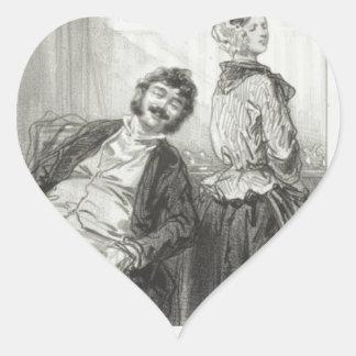 Los maridos hacen siempre que ríe: Venido, Mme. Pegatina En Forma De Corazón