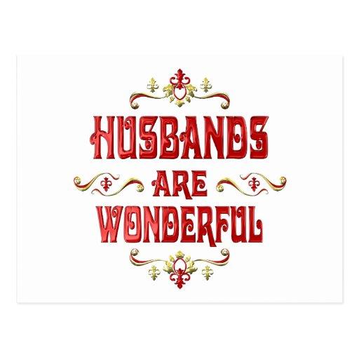 Los maridos son maravillosos tarjetas postales