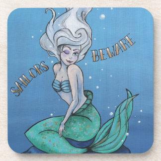 ¡Los marineros se guardan! Sirena modela Posavasos De Bebidas