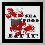 ¡Los mariscos lo comen! Poster