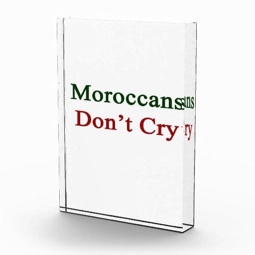 Los marroquíes no lloran