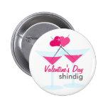 ¡Los martinis de la tarjeta del día de San Valentí Pin Redondo 5 Cm
