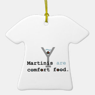 Los martinis son comida de la comodidad adorno de reyes