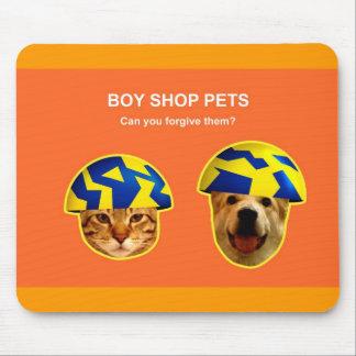 Los mascotas de la tienda del muchacho pueden uste tapetes de ratones