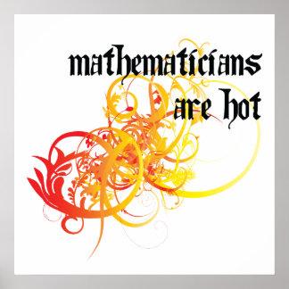 Los matemáticos son calientes posters