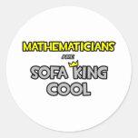 Los matemáticos son rey Cool del sofá Pegatina Redonda