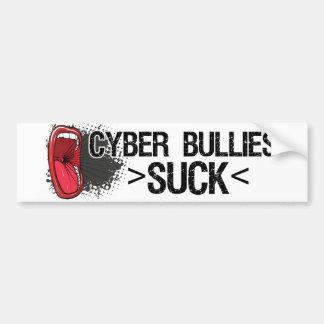 Los matones cibernéticos chupan a la pegatina para pegatina para auto