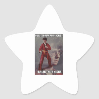 Los matones del meme de Kyle del karate rompen mis Calcomanías Forma De Estrellaes Personalizadas