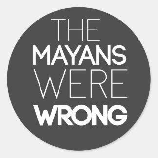 los mayans eran pegatina incorrecto