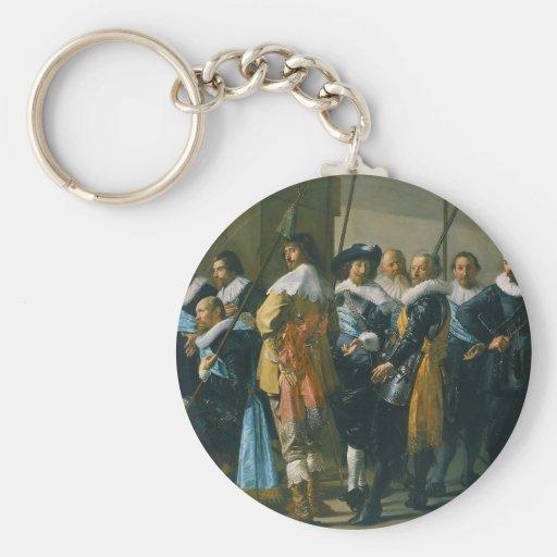 Los Meagre Company de Francisco Hals 1637 Llavero Redondo Tipo Pin