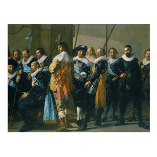 Los Meagre Company de Francisco Hals 1637 Tarjeta Postal