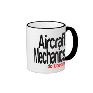 Los mecánicos de aviones mejora taza de dos colores