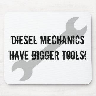 ¡Los mecánicos diesel tienen herramientas más gran Tapete De Raton