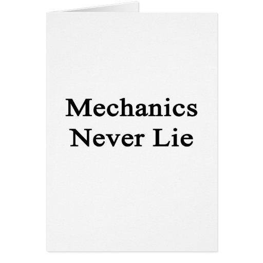 Los mecánicos nunca mienten felicitación