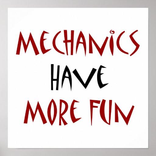 Los mecánicos se divierten más impresiones
