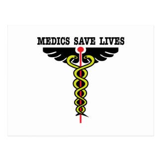 Los médicos ahorran vidas postales