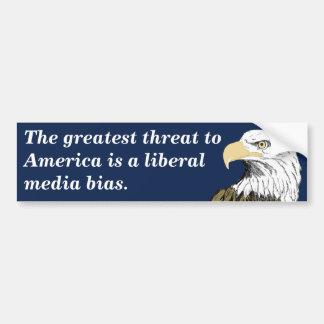 Los medios liberales perjudican (Smith) Etiqueta De Parachoque