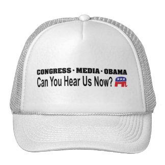 ¿Los medios Obama del congreso pueden usted ahora Gorros Bordados